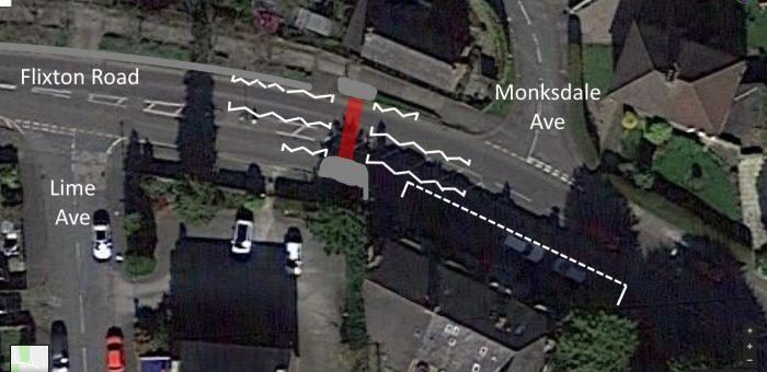 Flixton Road crossing relocation / upgrade idea